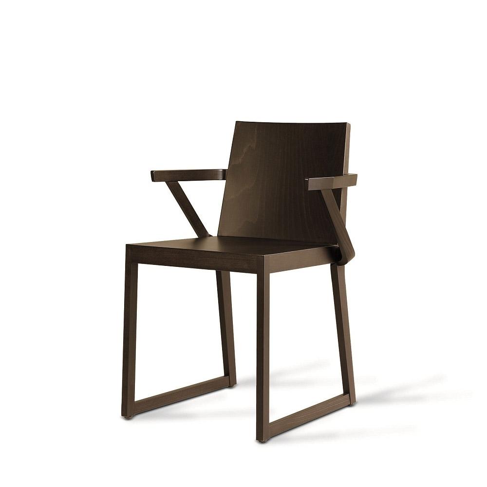 Sd quentin b sedia in legno con braccioli vela stile for Sedia b b