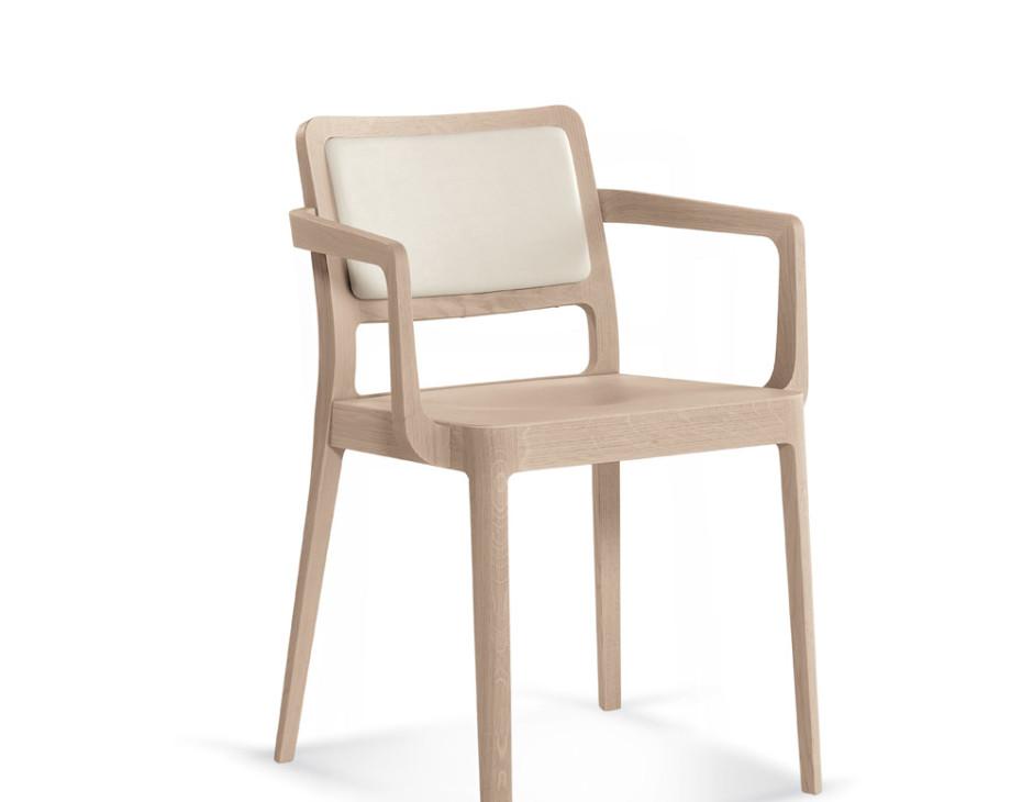 Sedie In Legno Con Braccioli : Sd meriggio b sedia in legno con braccioli vela stile