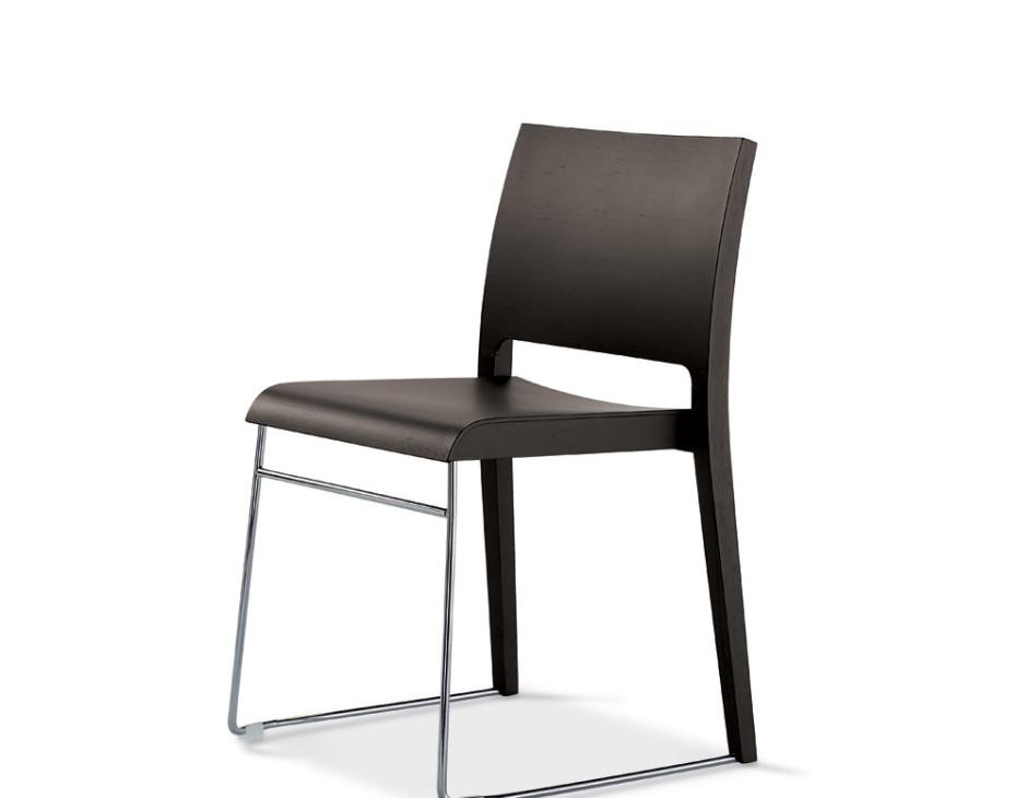 Sd twin sedia in legno vela stile